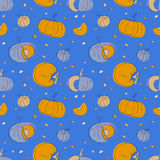 Pumpkin seamless pattern Royalty Free Stock Photography