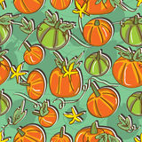 Pumpkin Seamless Pattern_eps Stock Photos
