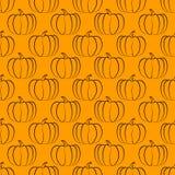 Pumpkin seamless pattern Stock Images