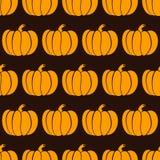 Pumpkin seamless pattern Royalty Free Stock Photos