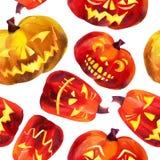 Pumpkin seamless pattern. Royalty Free Stock Photos