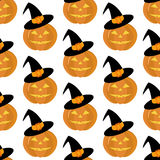 Pumpkin seamless pattern Royalty Free Stock Photo