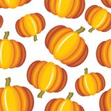 Pumpkin seamless pattern Royalty Free Stock Photos