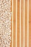 Pumpkin seed  on a bamboo mat Stock Photography