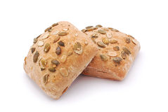 Pumpkin seed bread Royalty Free Stock Images