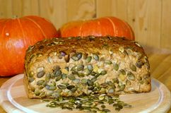 Pumpkin seed bread Stock Images
