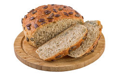 Pumpkin Seed Bread on Cuttiing Board Royalty Free Stock Images