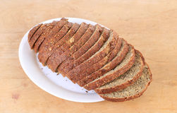 Pumpkin Seed Bread Stock Photo