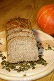 Pumpkin seed bread Stock Photos