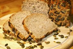 Pumpkin seed bread Stock Photo