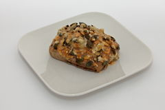 Pumpkin seed bun Royalty Free Stock Photos