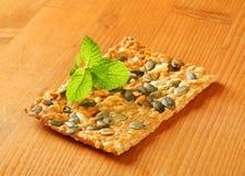 Pumpkin seed cheddar cracker Stock Image