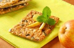 Pumpkin seed cheddar cracker Stock Photo