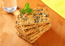 Pumpkin seed cheddar crackers Stock Photo