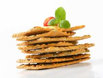 Pumpkin seed cheddar crackers Stock Photography