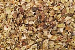 Pumpkin seed forming a background. Background texture of pumpkin seeds. Vegan food. Raw pumpkin seeds for roasting closeup stock photos