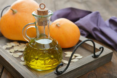 Pumpkin seed oil Royalty Free Stock Photography