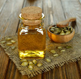 Pumpkin seed oil Stock Image