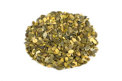 Pumpkin seeds. Pumpkin seed purified on a white background Stock Photo