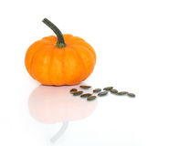 Pumpkin with seeds Stock Photo
