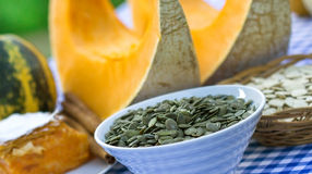 Pumpkin seeds Royalty Free Stock Images