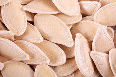 Pumpkin seeds. On the table Stock Photography