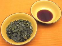 Free Pumpkin Seeds And Pumpkin Seed Oil Stock Photo - 8582790