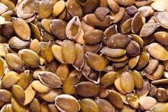 Pumpkin seeds background Stock Images