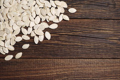 Pumpkin seeds background Royalty Free Stock Image
