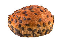 Pumpkin seeds bread isolated clipping path included Stock Images