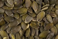 Pumpkin seeds close up Royalty Free Stock Photo