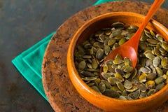Pumpkin seeds, close up Stock Image
