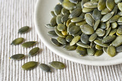 Pumpkin seeds closeup Royalty Free Stock Photos