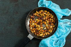 Pumpkin seeds fried with spices Royalty Free Stock Image