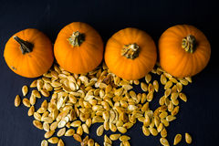 Pumpkin seeds Stock Photography