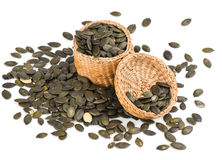 Free Pumpkin Seeds In A Basket Stock Photo - 50694330