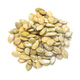 Pumpkin seeds isolated Royalty Free Stock Image