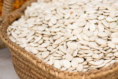Pumpkin Seeds On The Market Stock Photo