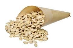 Pumpkin seeds in pack Royalty Free Stock Image