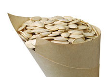 Pumpkin seeds in package Royalty Free Stock Photos