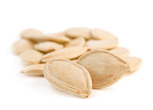 Pumpkin seeds stack Royalty Free Stock Photo