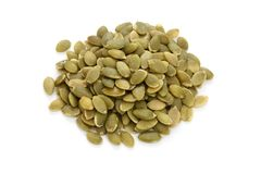 Pumpkin seeds,traditional chinese herbal medicine Stock Photography