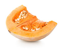 Pumpkin with seeds Royalty Free Stock Photos