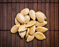 Pumpkin seeds. Royalty Free Stock Photos