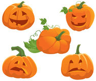 Pumpkin set. Pumpkin emotion set, vector illustration Stock Photo