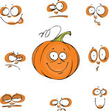 Pumpkin set Stock Photos