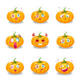 Pumpkin set Royalty Free Stock Photos