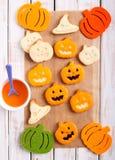 Pumpkin shape Halloween cookies Stock Photo
