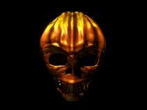 Pumpkin shape halloween skeleton Royalty Free Stock Images