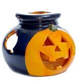 Pumpkin-shaped Brenner/aromatherapy Lampe Lizenzfreies Stockbild